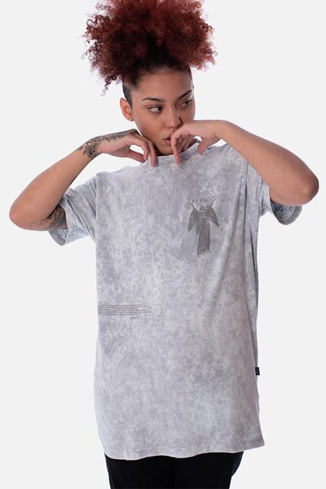 Camiseta Regular Approve Statue Ruínas Cinza