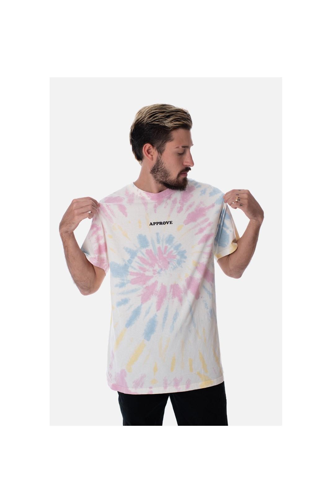 Camiseta Regular Approve Tie Dye Esponjada Colorida