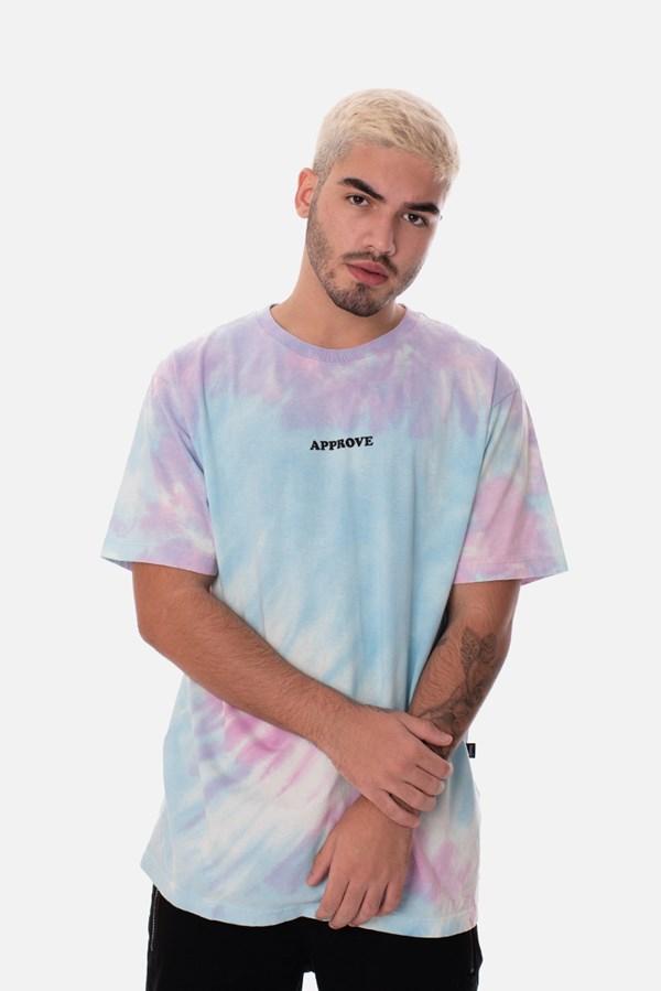 Camiseta Regular Approve Tie Dye Holographic Azul