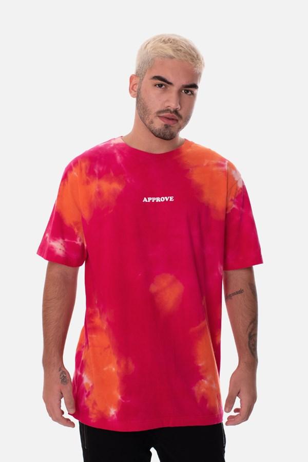 Camiseta Regular Approve Tie Dye Juicy Rosa