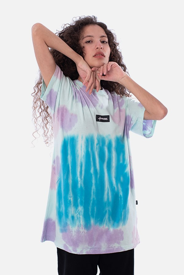 Camiseta Regular Approve Tie Dye Skypurple