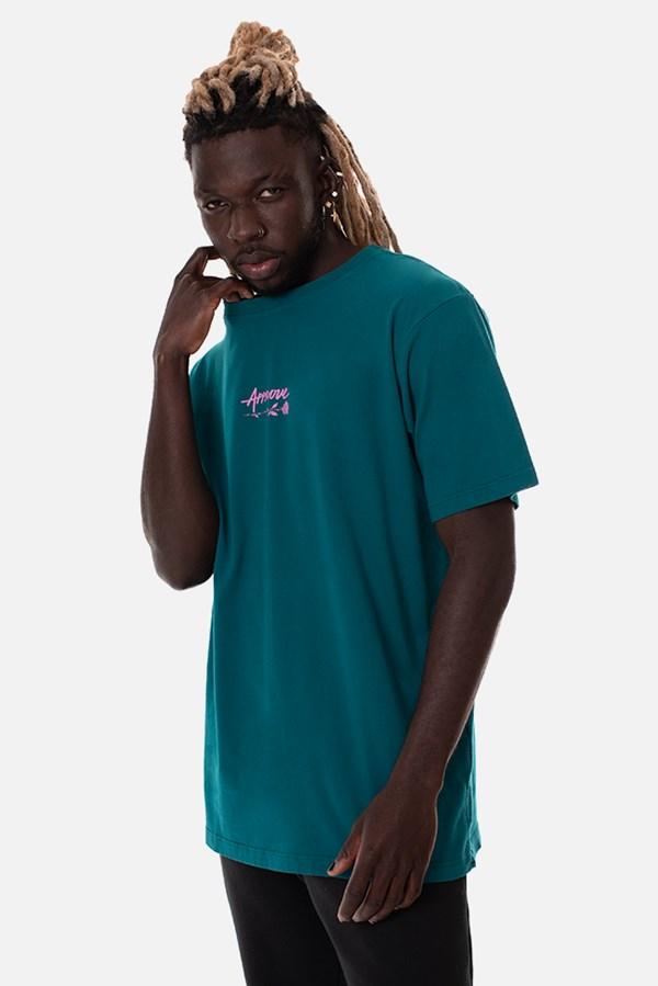 Camiseta Regular Approve Upsidedown Rose Azul