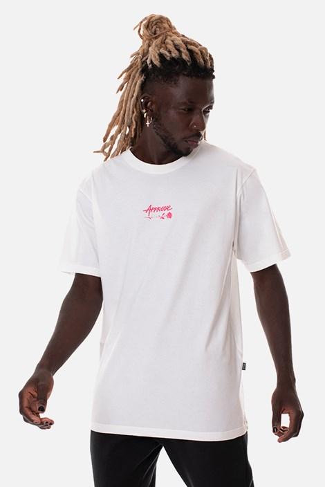 Camiseta Regular Approve Upsidedown Rose Off White