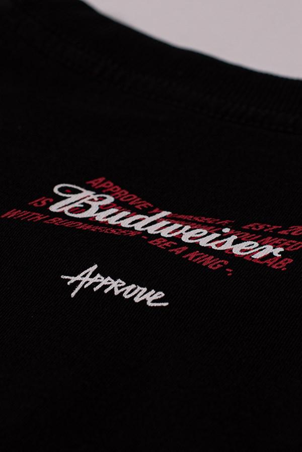 Camiseta Regular Approve X Budweiser Preta