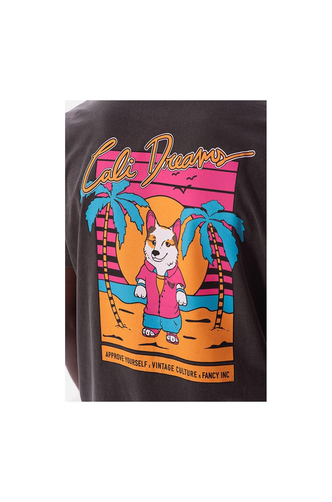 Camiseta Regular Approve X Vintage Culture Cinza Chumbo