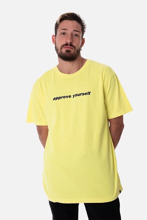 Camiseta Regular Approve Yourself Amarelo Neon