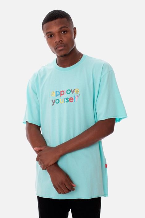 Camiseta Regular Approve Yourself Comic Azul