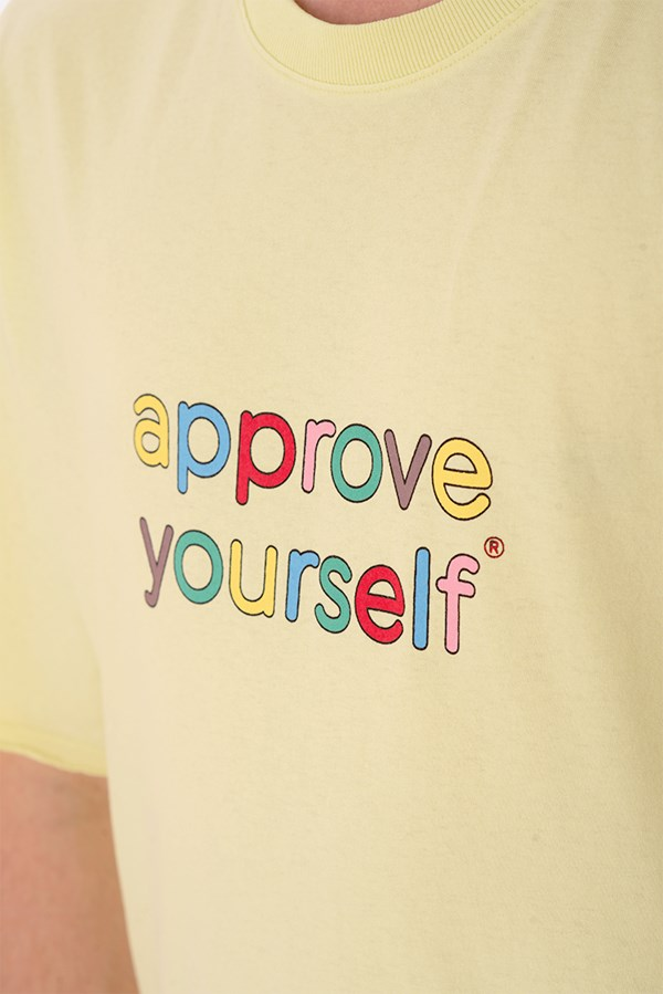 Camiseta Regular Approve Yourself Comic Verde