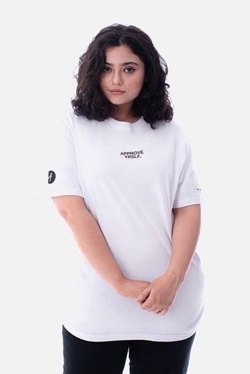Camiseta Regular Approve Yrslf Information Branca
