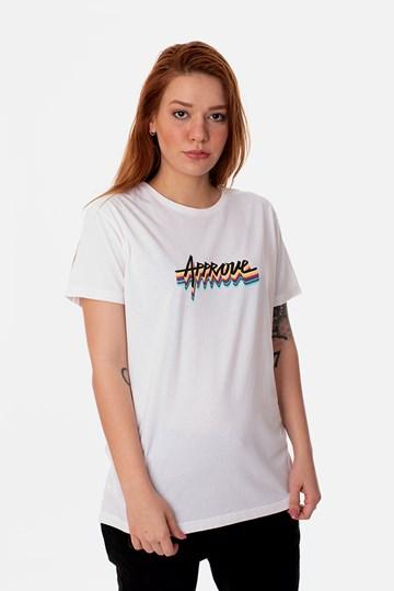 Camiseta Slim Approve Arco-Íris Off White