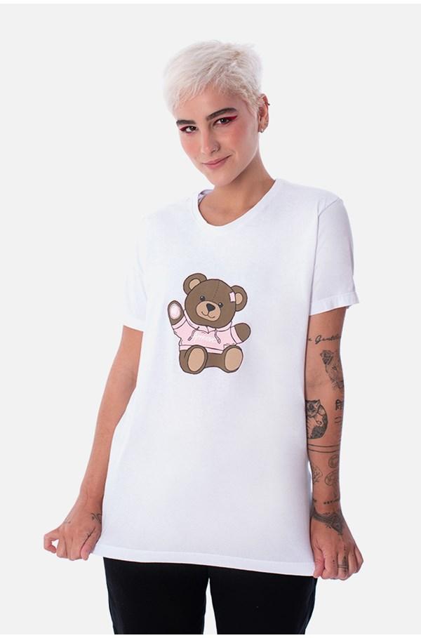 Camiseta Slim Approve Bear Branca