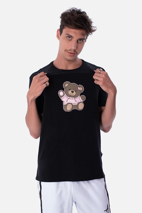 Camiseta Slim Approve Bear Preta