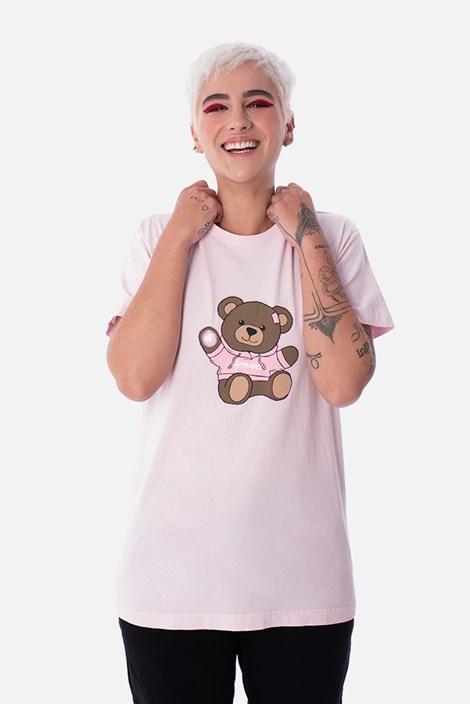 Camiseta Slim Approve Bear Rosa