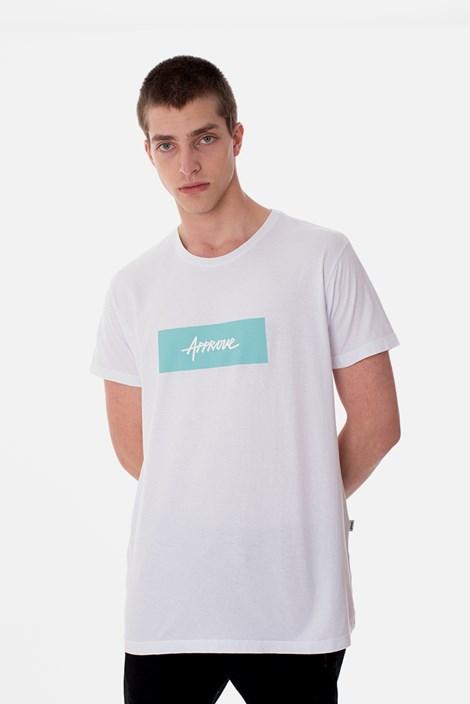 Camiseta Slim Approve Classic Branca e Verde Água