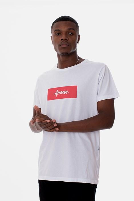 Camiseta Slim Approve Classic Branca e Vermelha