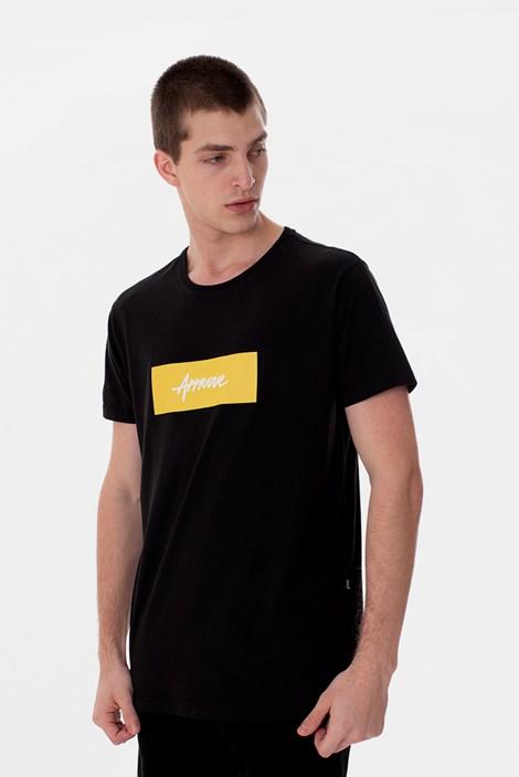 Camiseta Slim Approve Classic Preta e Amarela