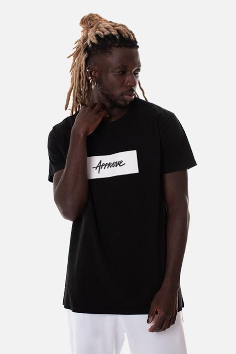 Camiseta Slim Approve Classic Preta e Branca