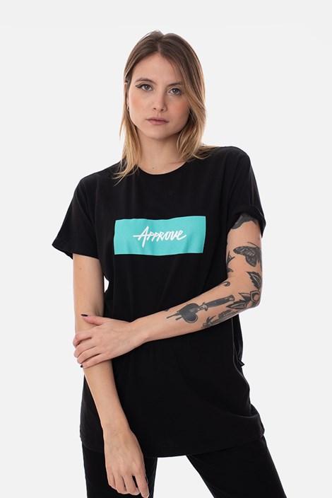 Camiseta Slim Approve Classic Preta e Verde Água