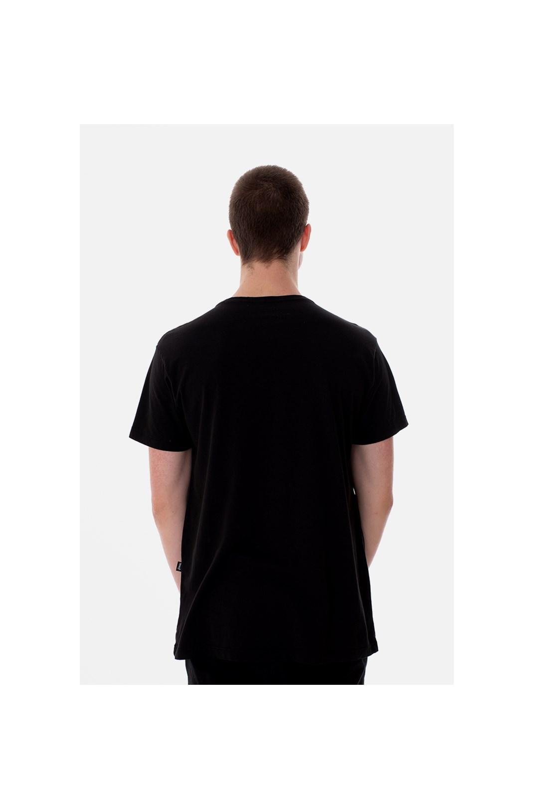 Camiseta Slim Approve Classic Preta e Vermelha V1