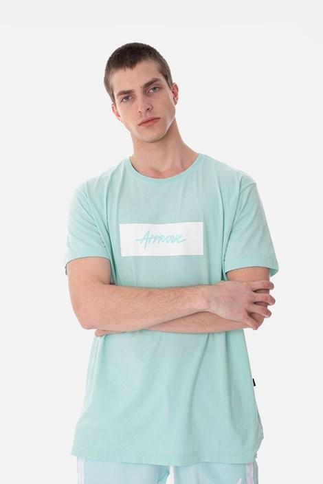 Camiseta Slim Approve Classic Verde Água e Branca