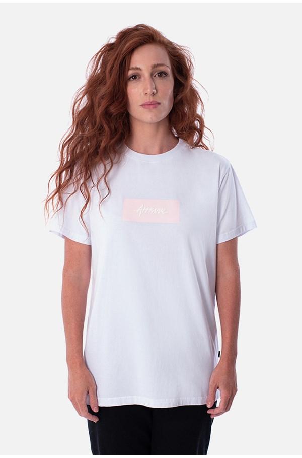Camiseta Tradicional Approve Classic Branca E Rosa V2