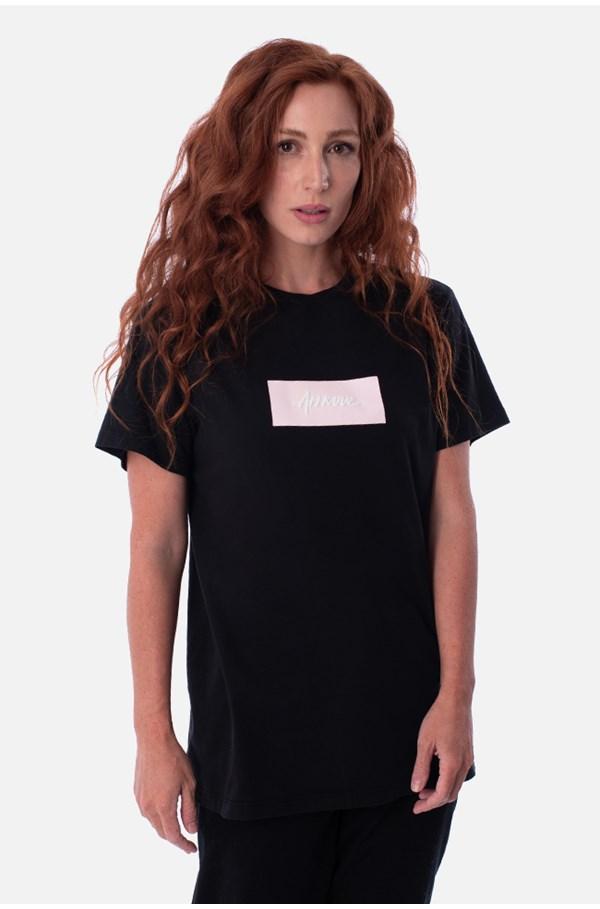 Camiseta Tradicional Approve Classic Preta E Rosa V2