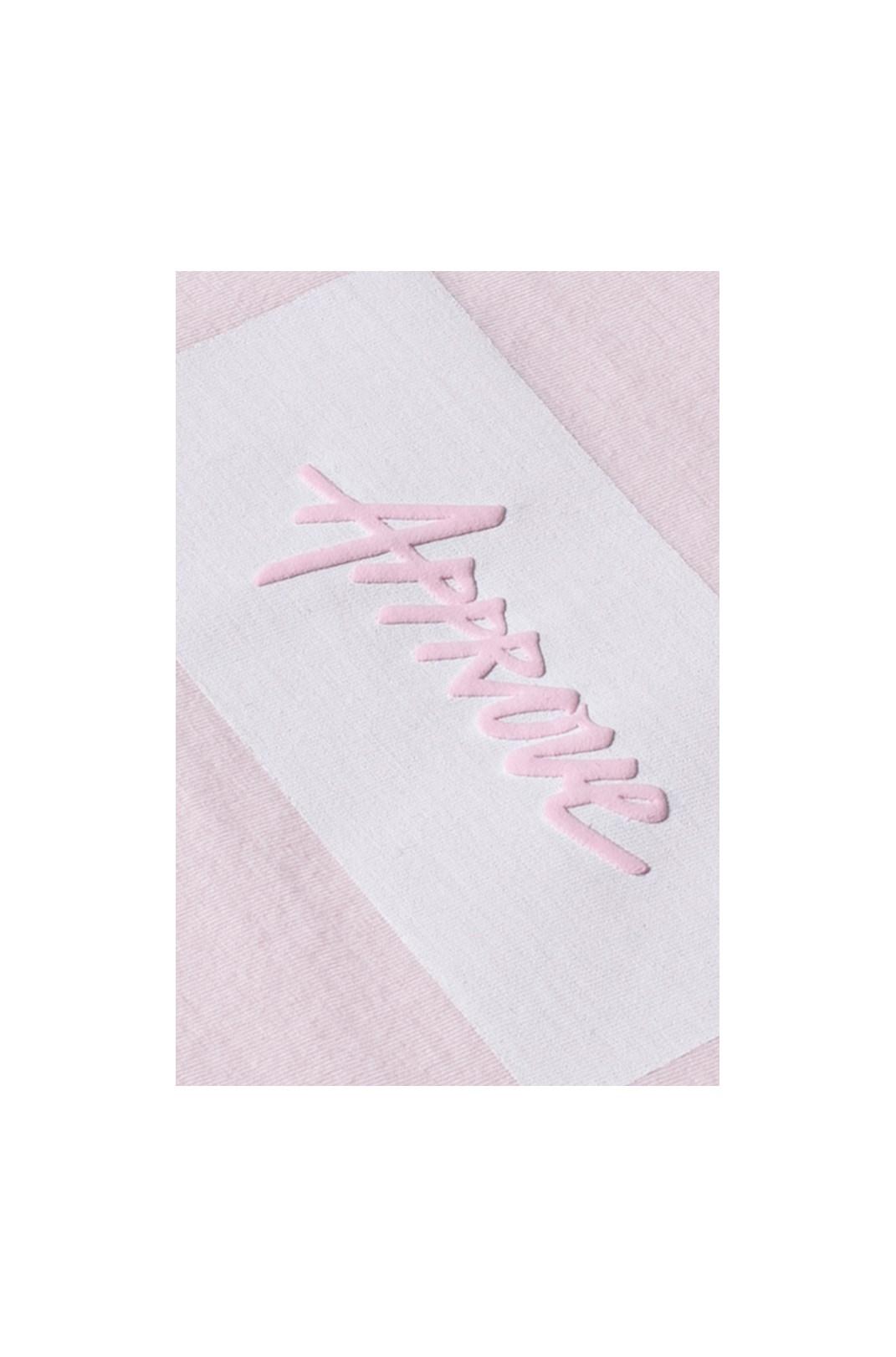 Camiseta Tradicional Approve Classic Rosa E Branca V2