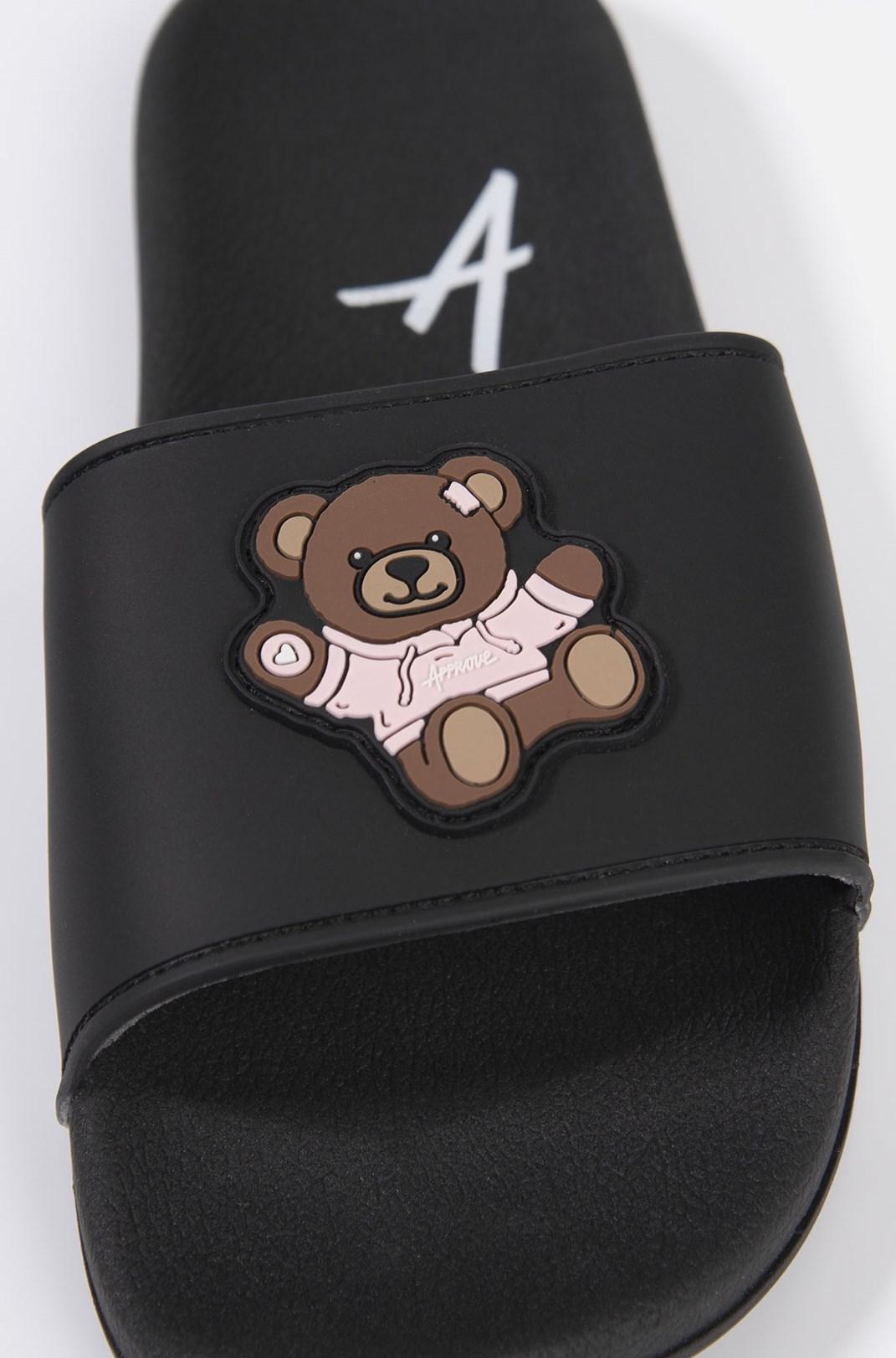 Chinelo Slide Approve Bear Preto