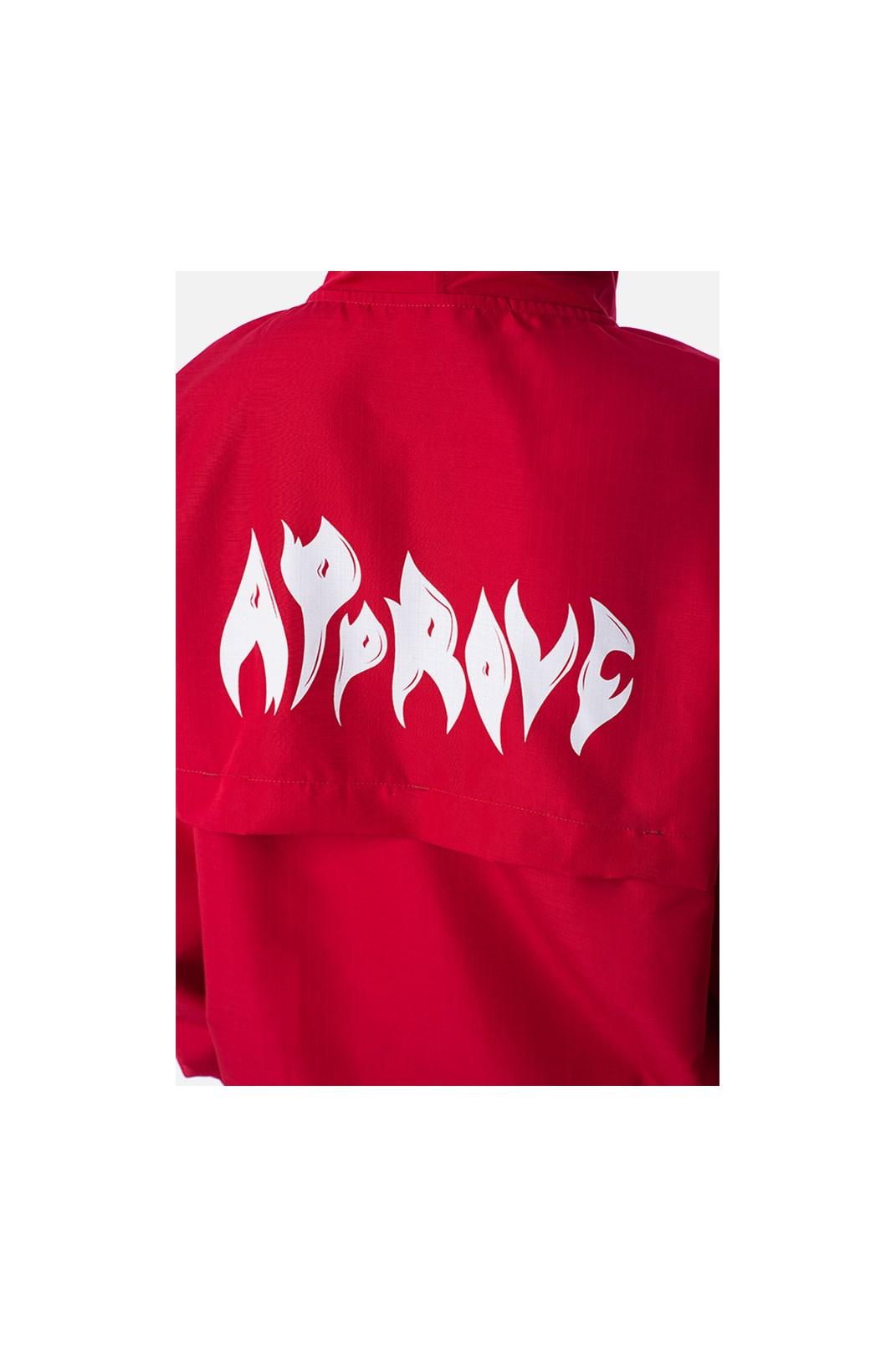 Corta Vento Approve Flames Vermelho