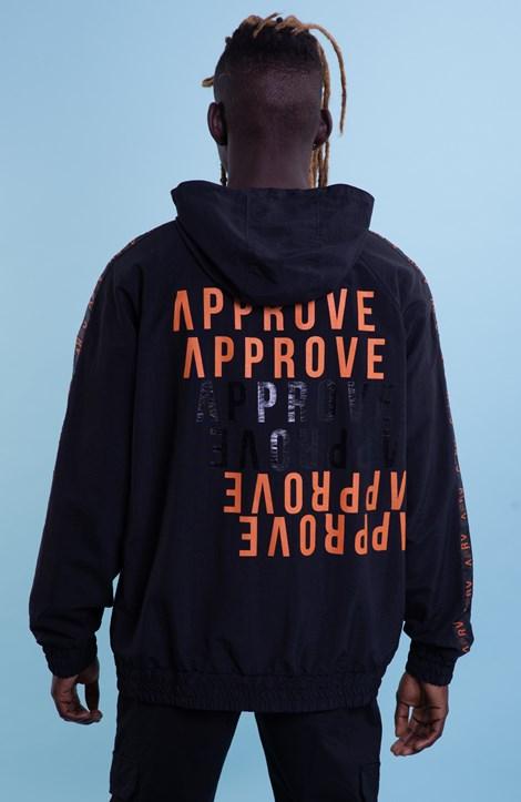 Corta Vento Approve Preto Com Faixa Aprv