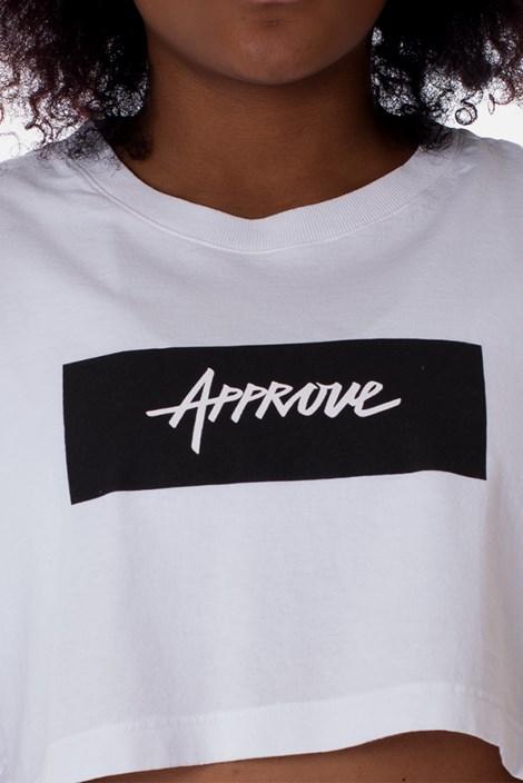 Cropped Approve Classic Branco e Preto