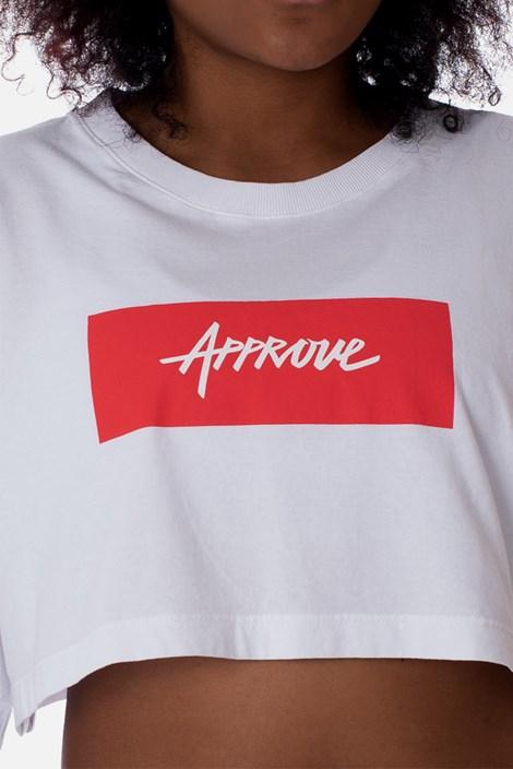 Cropped Approve Classic Branco e Vermelho