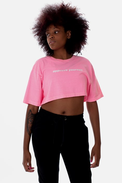 Cropped Approve Yourself Rosa Neon