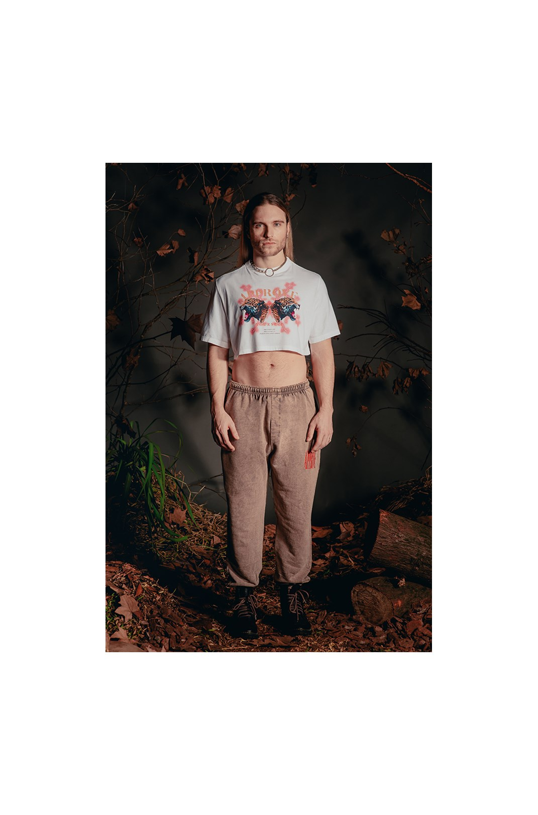 Cropped Bold Approve Animals Onça Off White