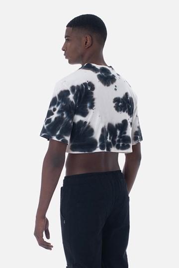 Cropped Bold Approve Basic Tie Dye Branco E Preto