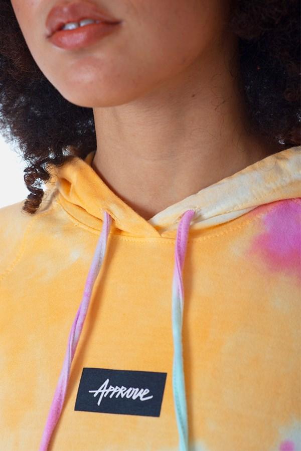 Cropped Com Capuz Manga Longa Approve Tie Dye Colorful