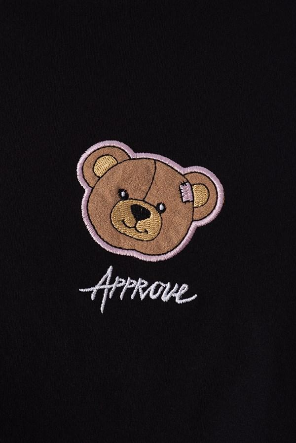 Cropped Regular Approve Bear Preto