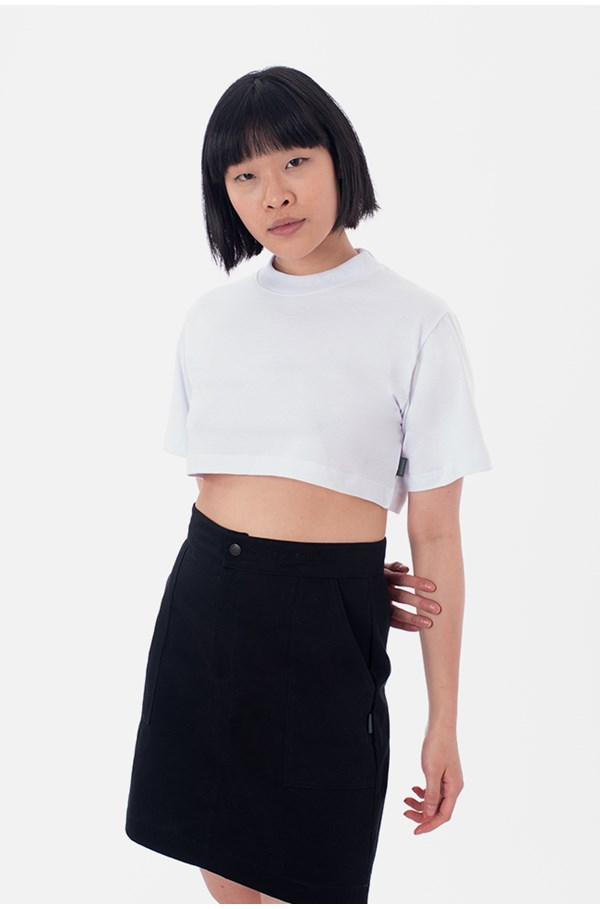 Cropped Regular Approve Canvas III Branco