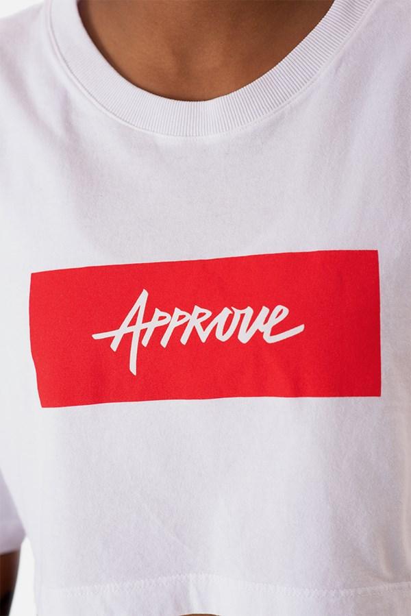 Cropped Regular Approve Classic Branco e Vermelho