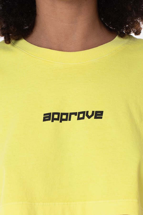 Cropped Regular Approve Flash Amarelo Neon