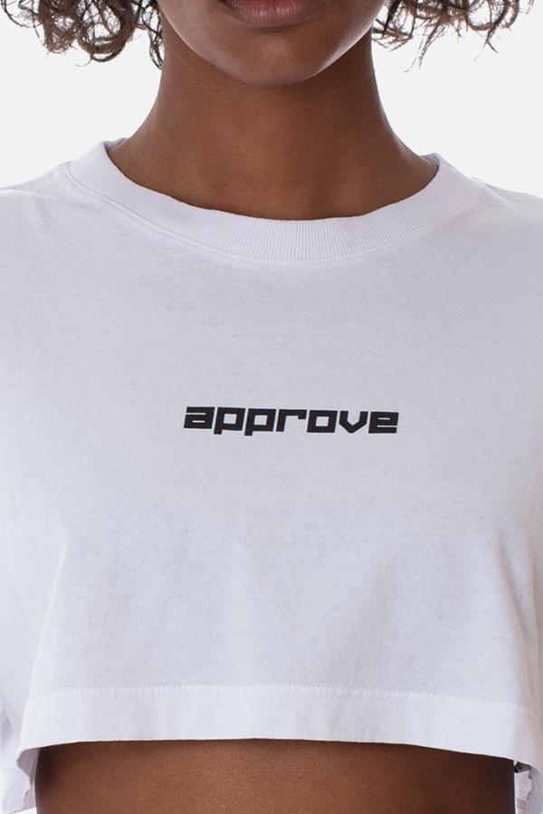 Cropped Regular Approve Flash Branco