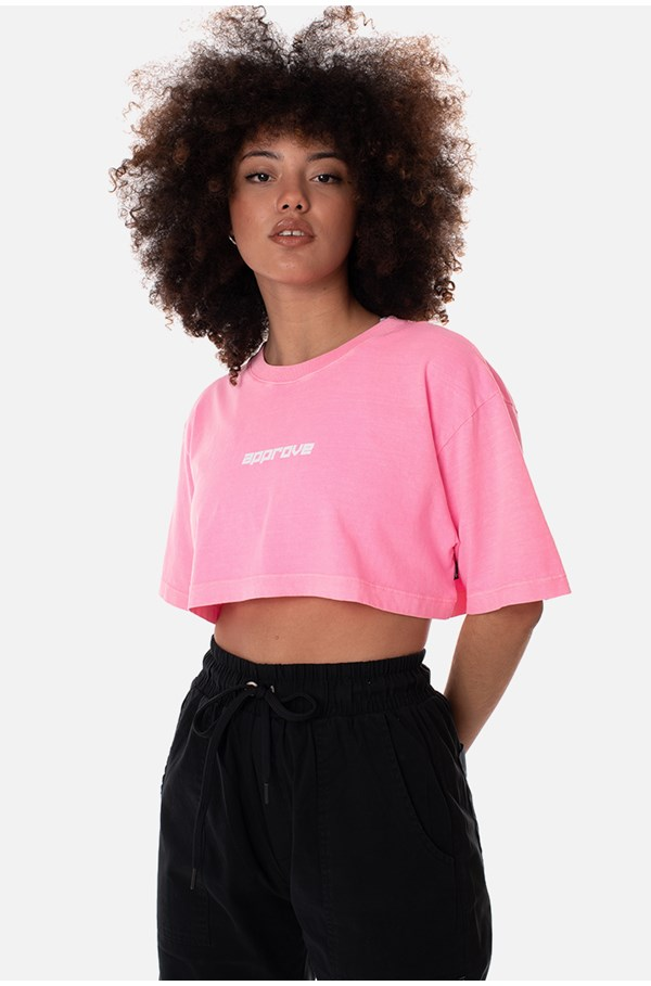 Cropped Regular Approve Flash Rosa Neon