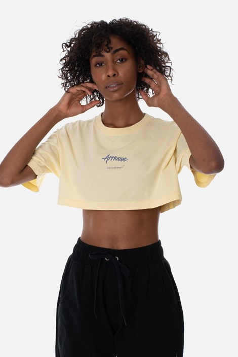 Cropped Regular Approve No Bad Days Amarelo
