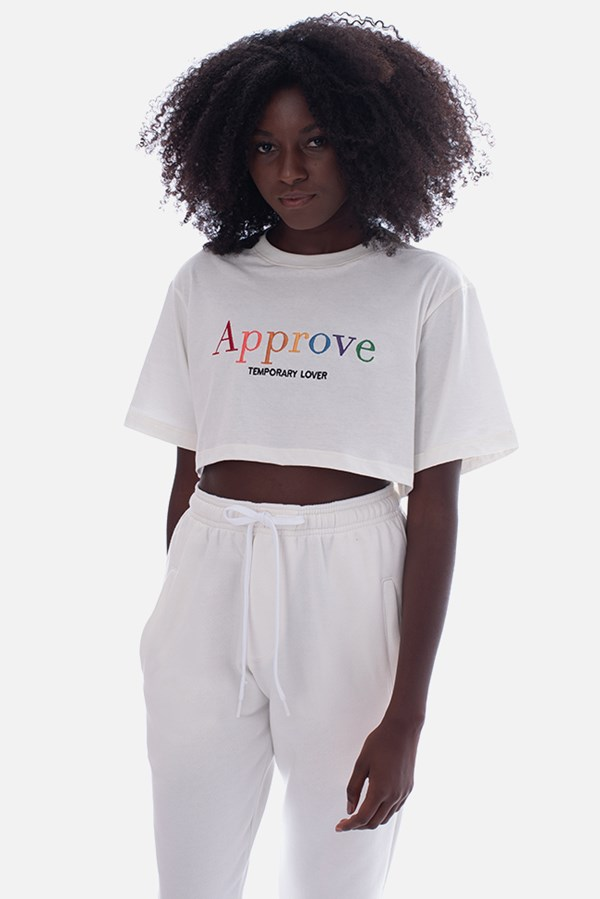 Cropped Regular Approve Rainbow Off White