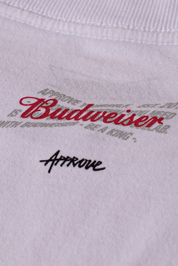 Cropped Regular Approve X Budweiser Branco