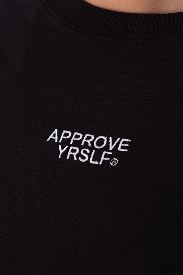 Cropped Regular Approve Yrslf Preto
