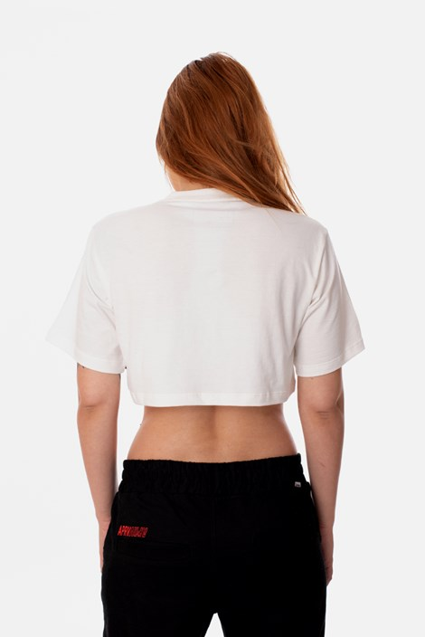 Cropped Slim Approve Heart by Picon Off White