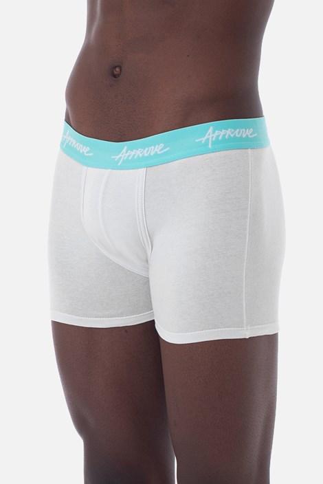 Cueca Boxer Approve Branca com Azul