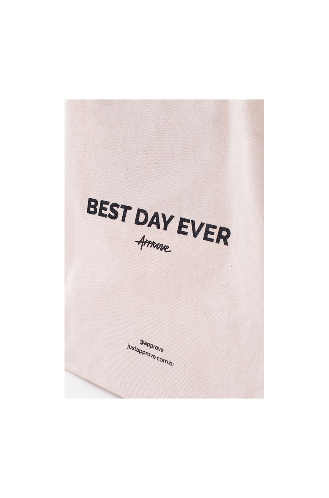 Ecobag Approve Best Day Ever Off White