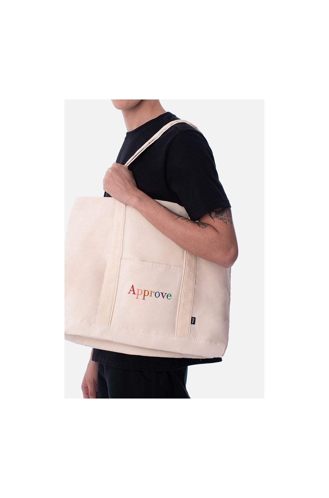 Ecobag Approve Rainbow Off White
